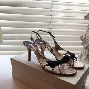 Chloe rose gold bow sandal