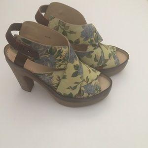 RAG & BONE Floral platform sandals size 7