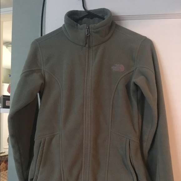 ed83d83f5 Small Women's muted green North Face zip up jacket