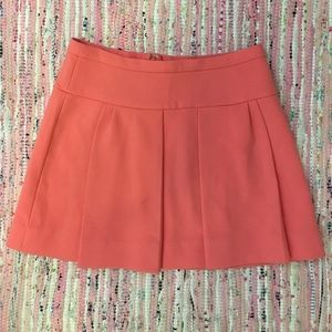 J.crew pink wool flare Skirt  size 6!