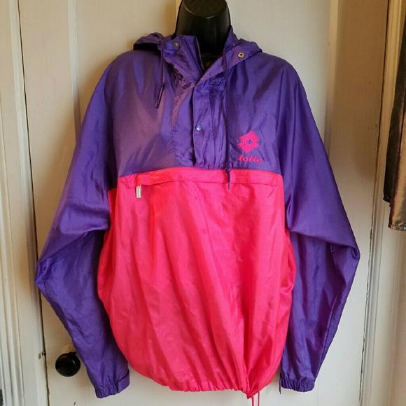 3510013149c7 LOTTO ITALIA Vintage Neon Windbreaker Jacket. M 57e820807fab3a01cb000a7e