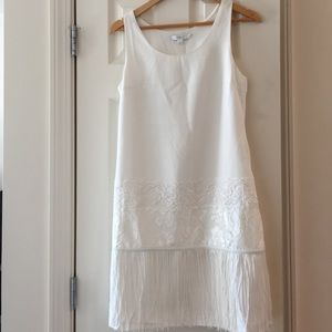 Dresses & Skirts - White embellished dress-perfect for bridal showers