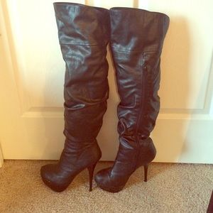 Shoes - Black Over-the-Knee Boots