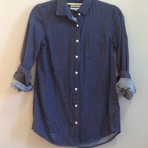 J. Crew BOY SHIRT IN EMBROIDERED POLKA DOT, size 0
