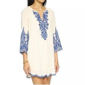 Love Sam Clothing Dresses & Skirts - LOVE SAM Floral Embroidered Dress Blue Eyelet Mini
