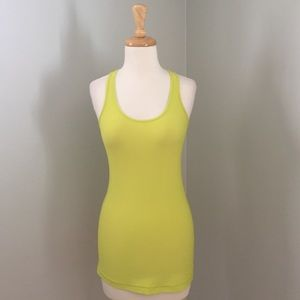 Lululemon neon green cool racerback