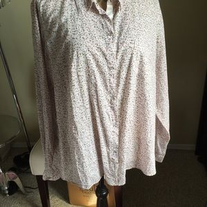 At Last Tops - Floral button down