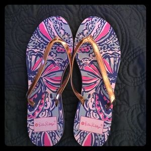 Lilly Pulitzer for Target Shoes - Lilly Pulitzer flip flops