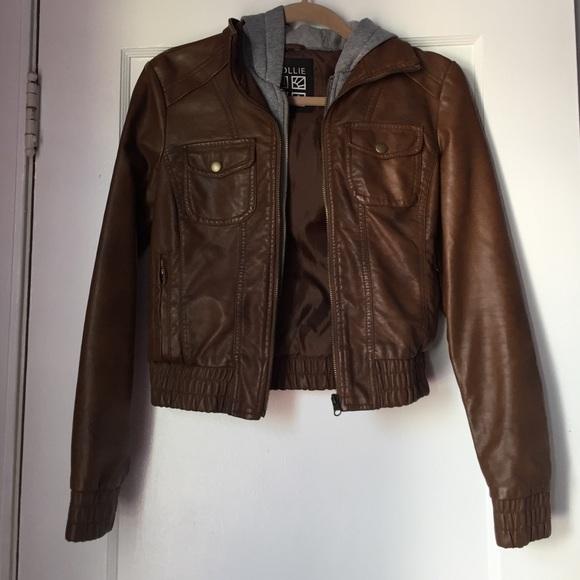 Nollie - Brown pleather jacket from Olivia&39s closet on Poshmark