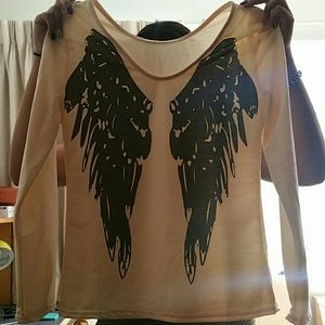 Angel Wing Cream Long sleeve!! Great for fall!