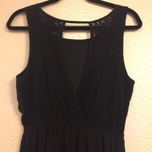 Black Maxi with Lace Back