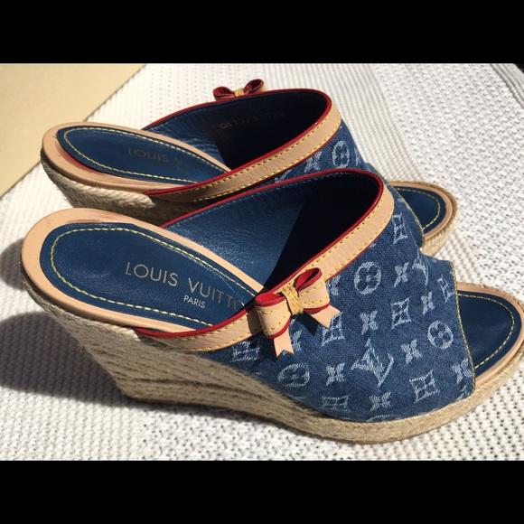 0441a3e040ec Louis Vuitton Shoes - ⬇️Price Drop❗️LV monogram denim wedges