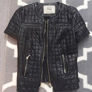 Zara short faux leather jacket