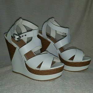 Sophia & Lee Shoes - White Sophia & Lee Wedges