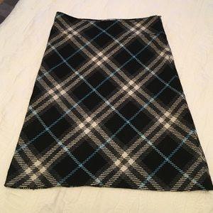 Burberry wool A line skirt