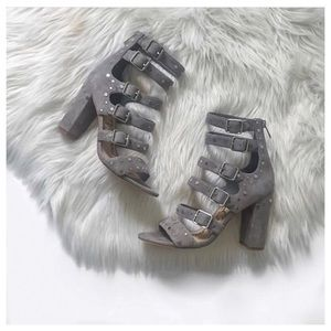 Sam Edelman York Grey Suede Sandals size 8