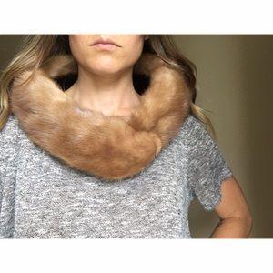 Vintage rabbit fur shaw
