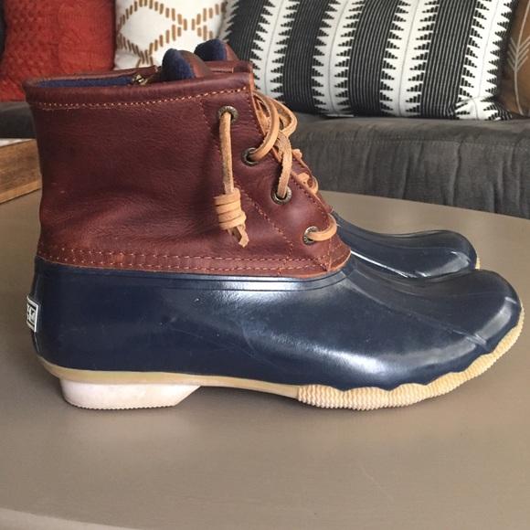 Popular LL BEAN Bean Boots Navy Low Duck Rain Boots Womens By 342Chelsea