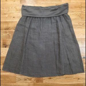 Allen Allen Dresses & Skirts - Brown 100% Linen Skirt by Allen Allen (Nordstrom)