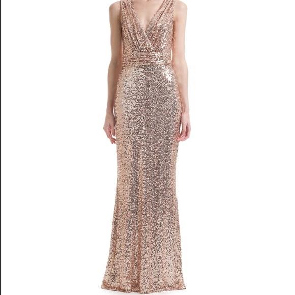 31% off Badgley Mischka Dresses & Skirts - NWT Rose gold sequin ...