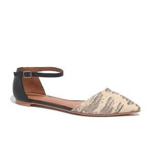 Madewell The Beatrice Anklestrap Skimmer Flats