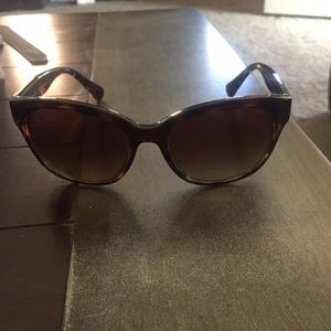 Coach dark tortoise sunglasses