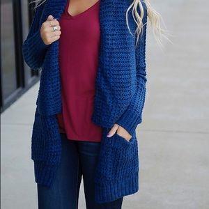 Dex Sweaters - Navy Sweater Cardigan