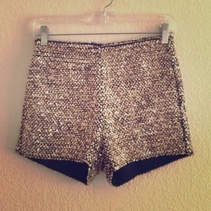 Ark & Co Pants - Sequin High Waist Shorts