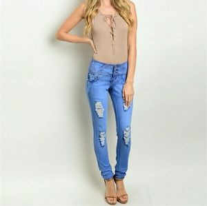 Para Denim - High waist skinny jeans