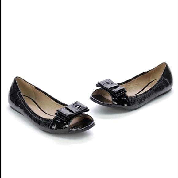8b15263dea kate spade Shoes - Kate Spade Bow Peep Toe Flats *SALE*