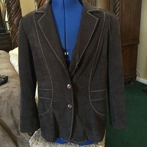 Jackets & Blazers - Great Looking Brown Jacket and Skirt Suit Sz 12