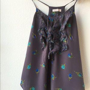 Rebecca Taylor Tops - Rebecca Taylor sleeveless ruffle blouse size four
