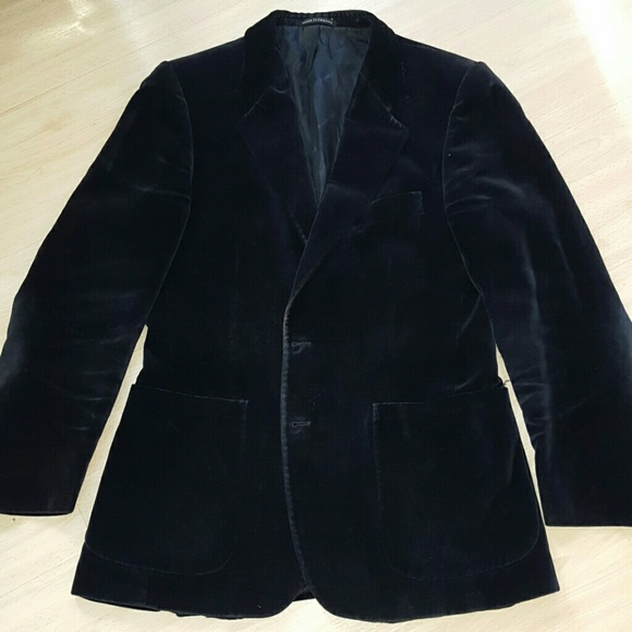 1b73ee46 Yves Saint Laurent men black velvet Vintage Blazer