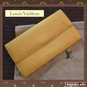 Authentic LOUIS VUITTON Epi-Leather Wallet!