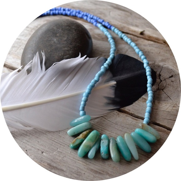 rare bits jewelry Jewelry - Amazonite Ombré Seed Bead Necklace