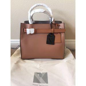 Reed Krakoff Handbags - REED KRAKOFF RK40 OS BROWN COLORBLOCK TOTE HANDBAG