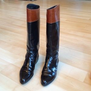 Bruno Magli Shoes - Black and brown Bruno Magli leather boots
