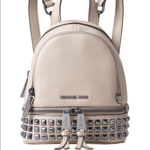 d46fa3c499e9 NEW Michael Kors Mini Rhea studded backpack