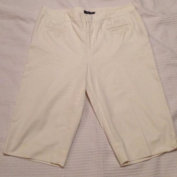 90% off Ralph Lauren Pants - 14P Ralph Lauren Cream Capri pants ...