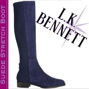 💙Blue stretch suede boot