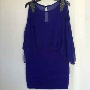 Xscape Dresses & Skirts - Unique Blue Dress
