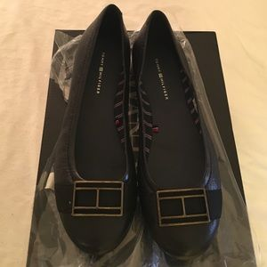 ‼️‼️Tommy Hilfiger brand new flats, %100 leather