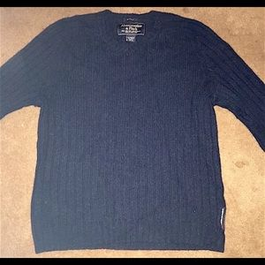 ABERCROMBIE & FITCH M NAVY BLUE MUSCLE SWEATER