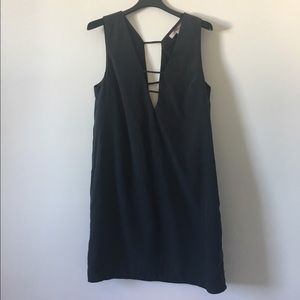 shift dress with deep v cutouts