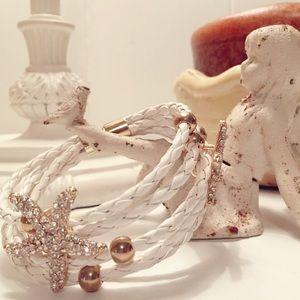 Jewelry - Starfish braided leather bracelet