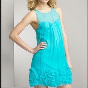 NWT Rebecca Taylor Aqua Dress Size 0