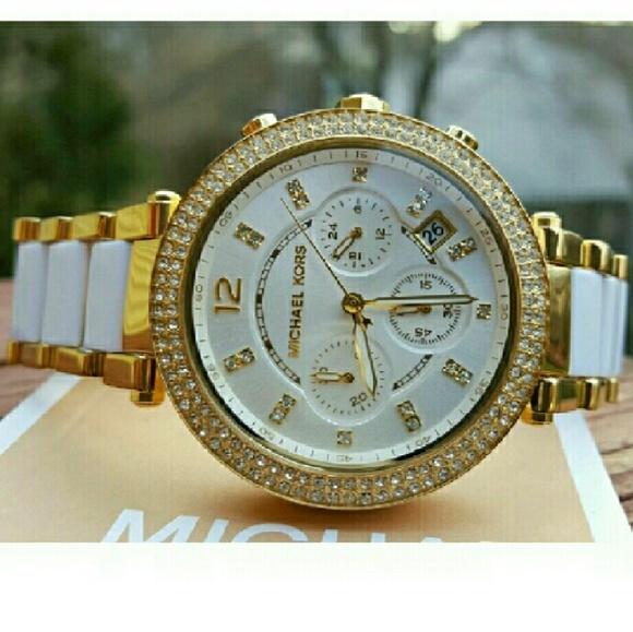 1d081055a703 New Michael Kors Parker MK bracelet watch MK6119