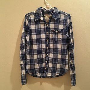 Blue Hollister Flannel Button Down
