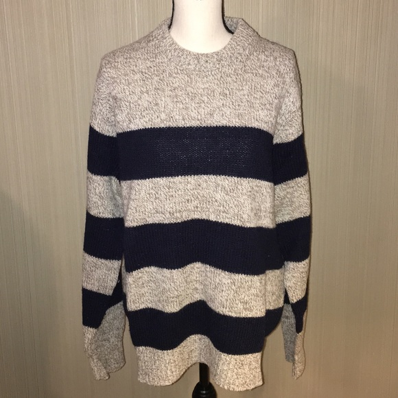 Ll Bean Sweaters Vintage Ll Bean Wool Striped Sweater Made In