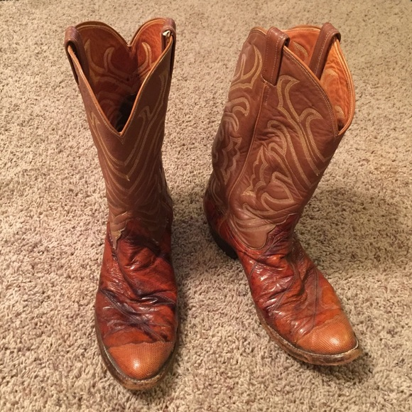 8bee3557db8 Tony Llama eel skin leather boots